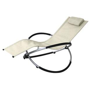 Vanilla Outdoor Rocking Lounge Chair