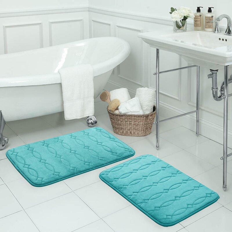 bath studio grecian large plush rectangle memory foam non