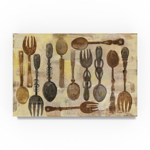 U0027Spoons And Forksu0027 Print On Wrapped Canvas