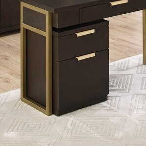 Brayden Studio Miracle 2 Drawer Mobile Vertical Filing Cabinet