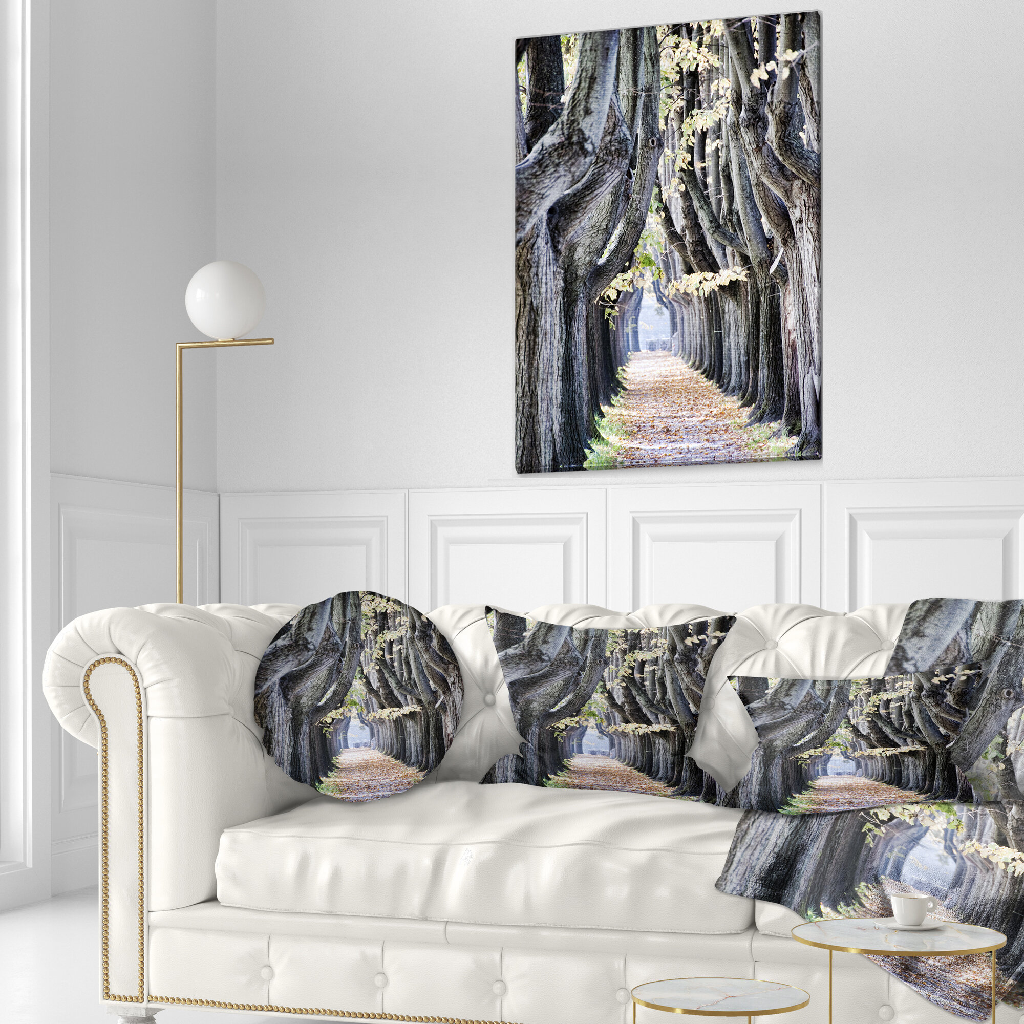East Urban Home Landscape Photo Tree Outside Lucca Italy Lumbar Pillow Wayfair