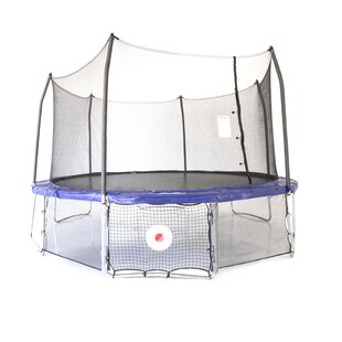 Skywalker Trampolines Kickback Game 17' Oval trampoline with Safety Enclosure