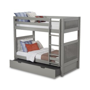 Great Price Oakwood Twin over Twin Bunk Bed with Trundle by Harriet Bee Reviews (2019) & Buyer's Guide