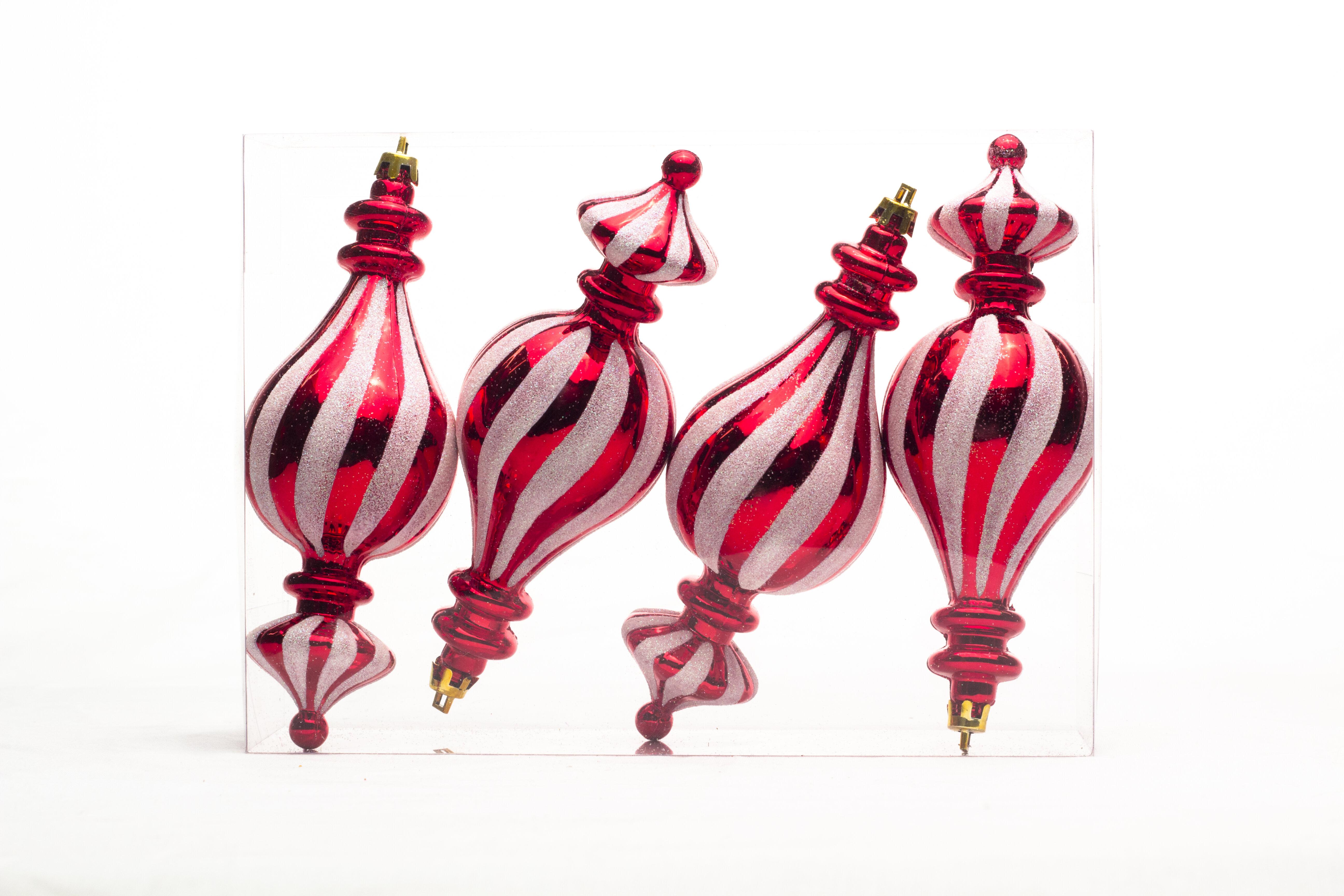 The Holiday Aisle 4 Piece Finial Ornament Set Reviews Wayfair