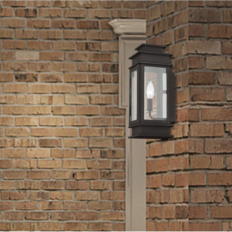 Gracie Oaks Gobinda 1 Bulb 14 H Outdoor Wall Lantern Wayfair