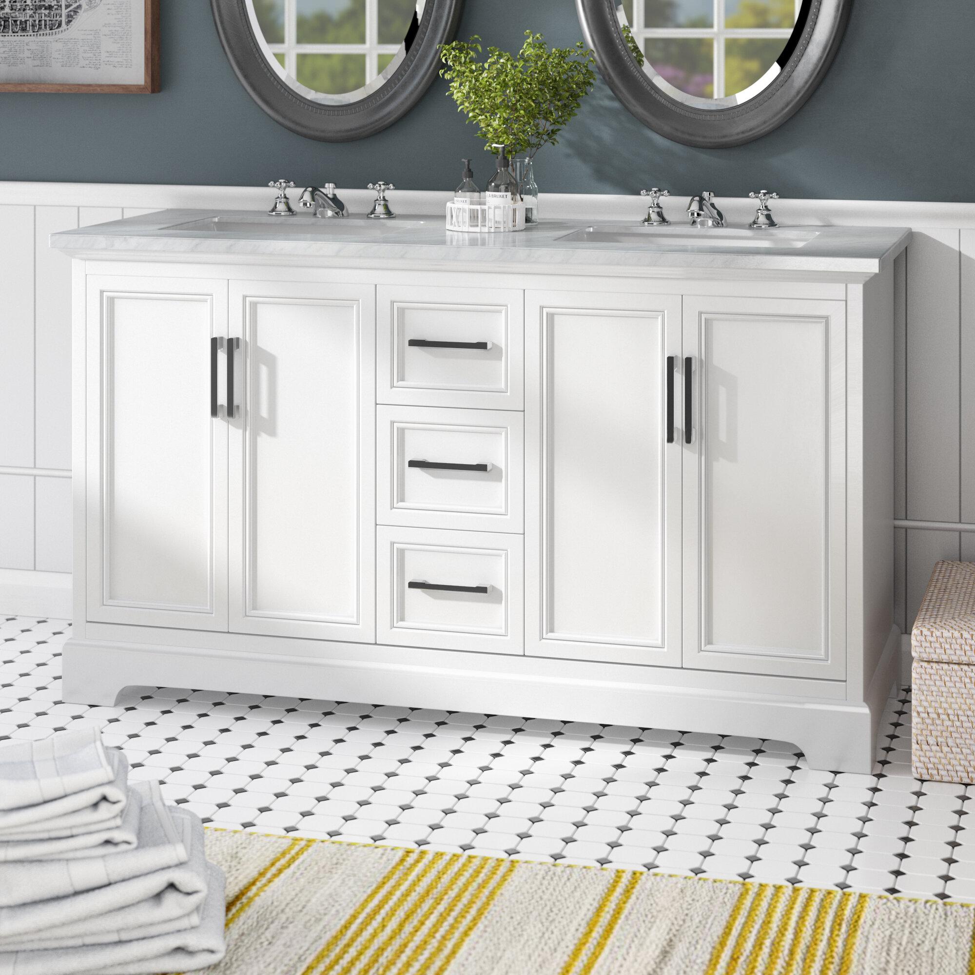 Beachcrest Home Ravenworth 60 Double Bathroom Vanity Set Reviews