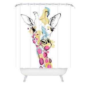 Watchet Giraffe Color Single Shower Curtain