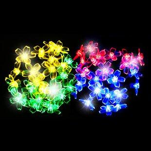 50 Multicolour LED Blossom Solar Fairy Lights By OE Lights