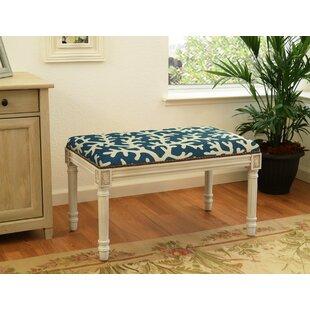 123 Creations Coastal Upholstered & Wood Bench