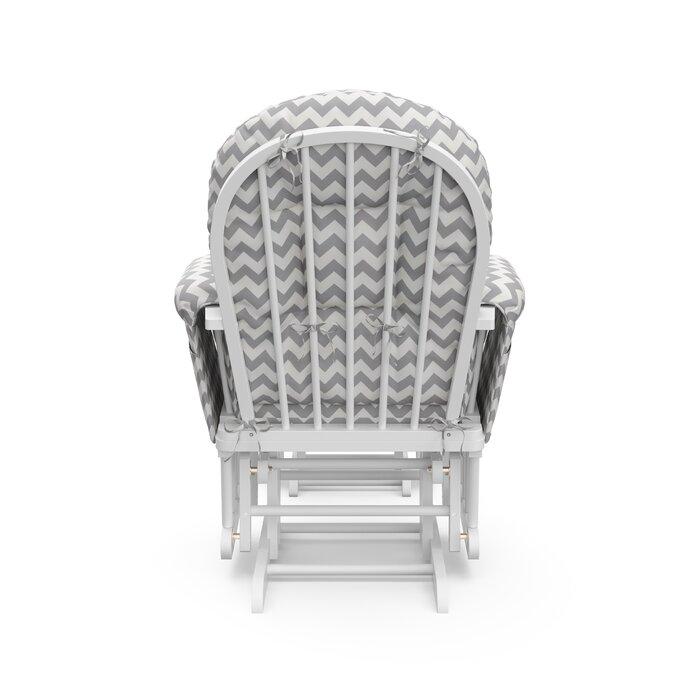Pleasant Hoop Chevron Glider And Ottoman Machost Co Dining Chair Design Ideas Machostcouk
