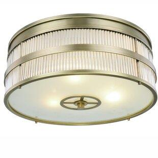 Darby Home Co Lev Transitional 3-Light Flush Mount