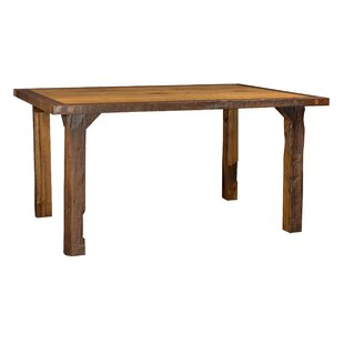 Rabon Barnwood Solid Wood Dining Table by Loon Peak