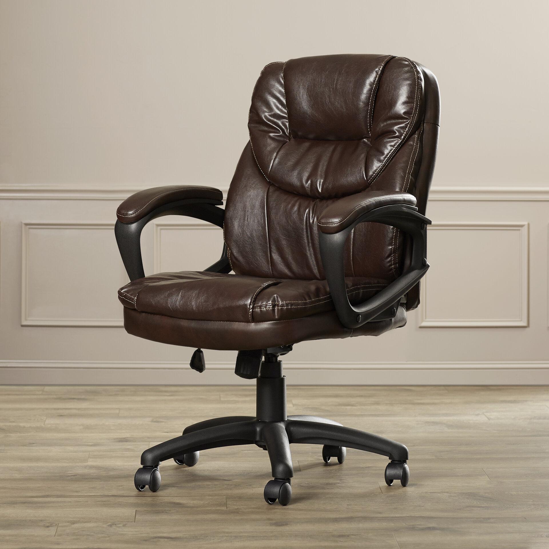 Charlton Home Musgrove Mid Back Desk Chair U0026 Reviews | Wayfair