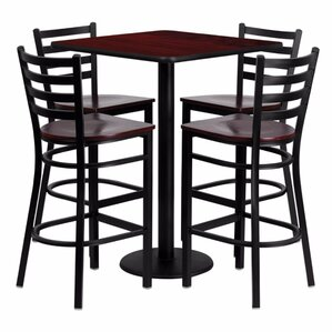 Portia 5 Piece Pub Table Set by Red Barre..