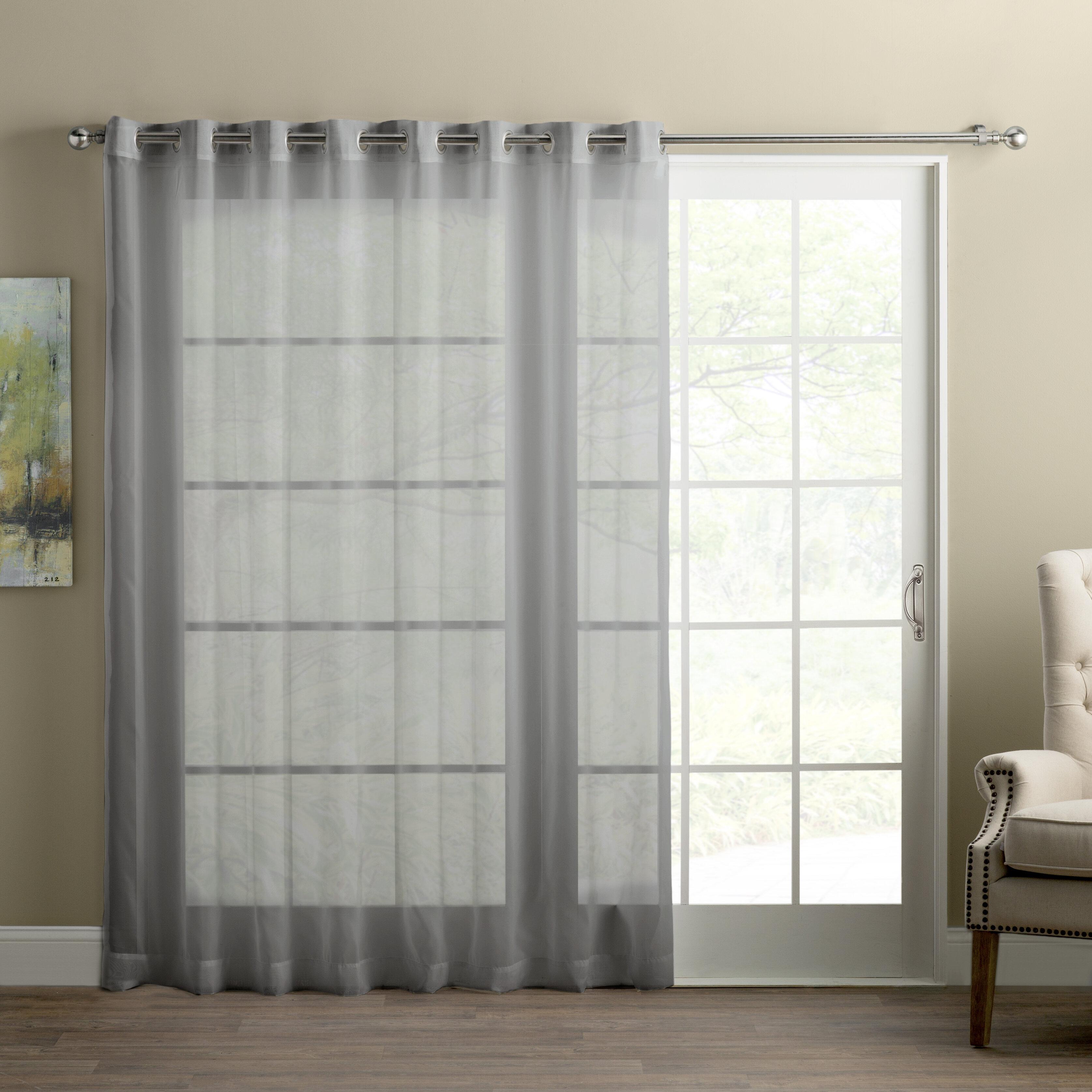 Wayfair Basics Sliding Door Patio Solid Semi Sheer Grommet Single Curtain Panel