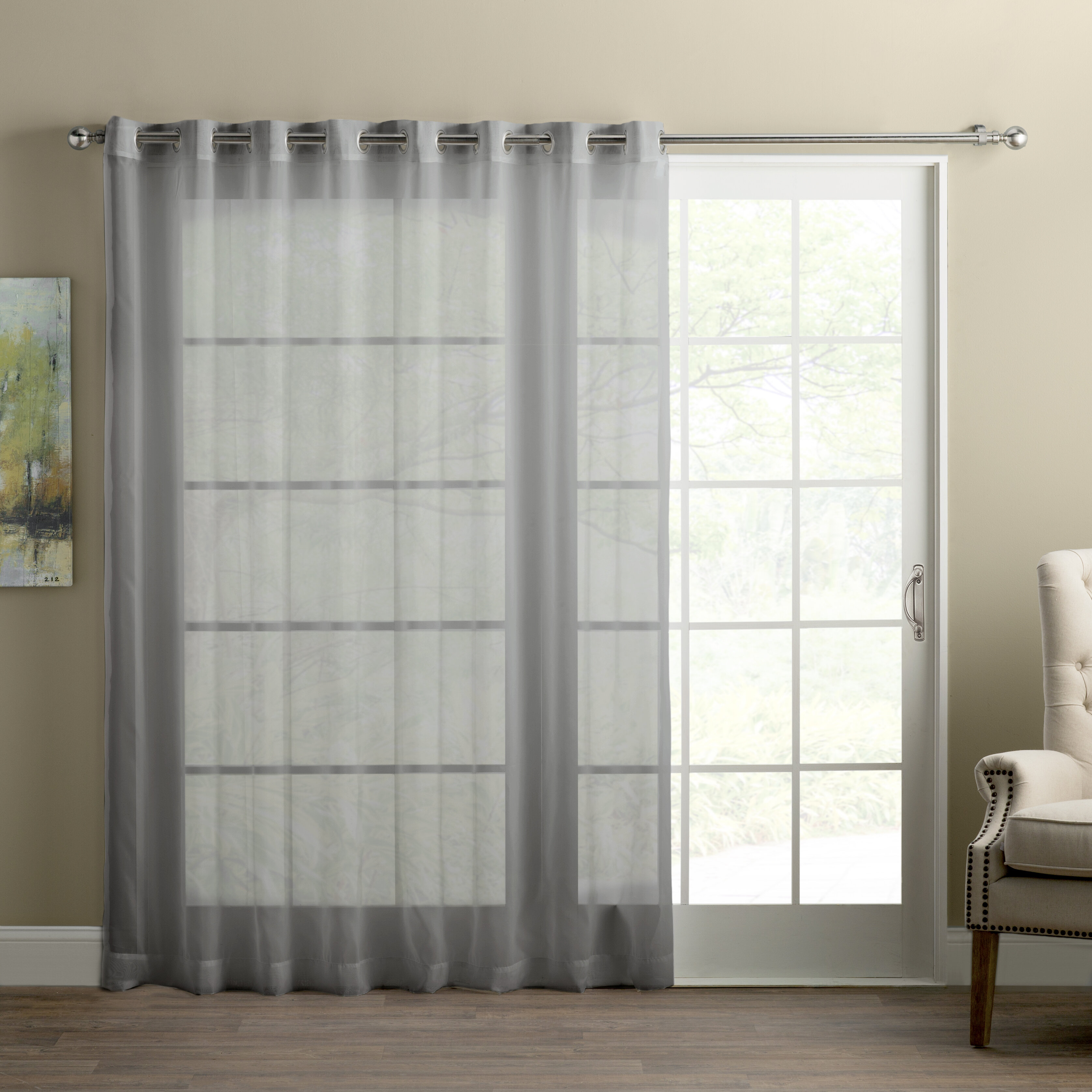 Wayfair Basics Sliding Door Patio Solid Sheer Grommet Single Curtain Panel Reviews Allmodern