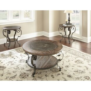 Alan 3 Piece Coffee Table Set by Fleur De Lis Living Today Sale Only