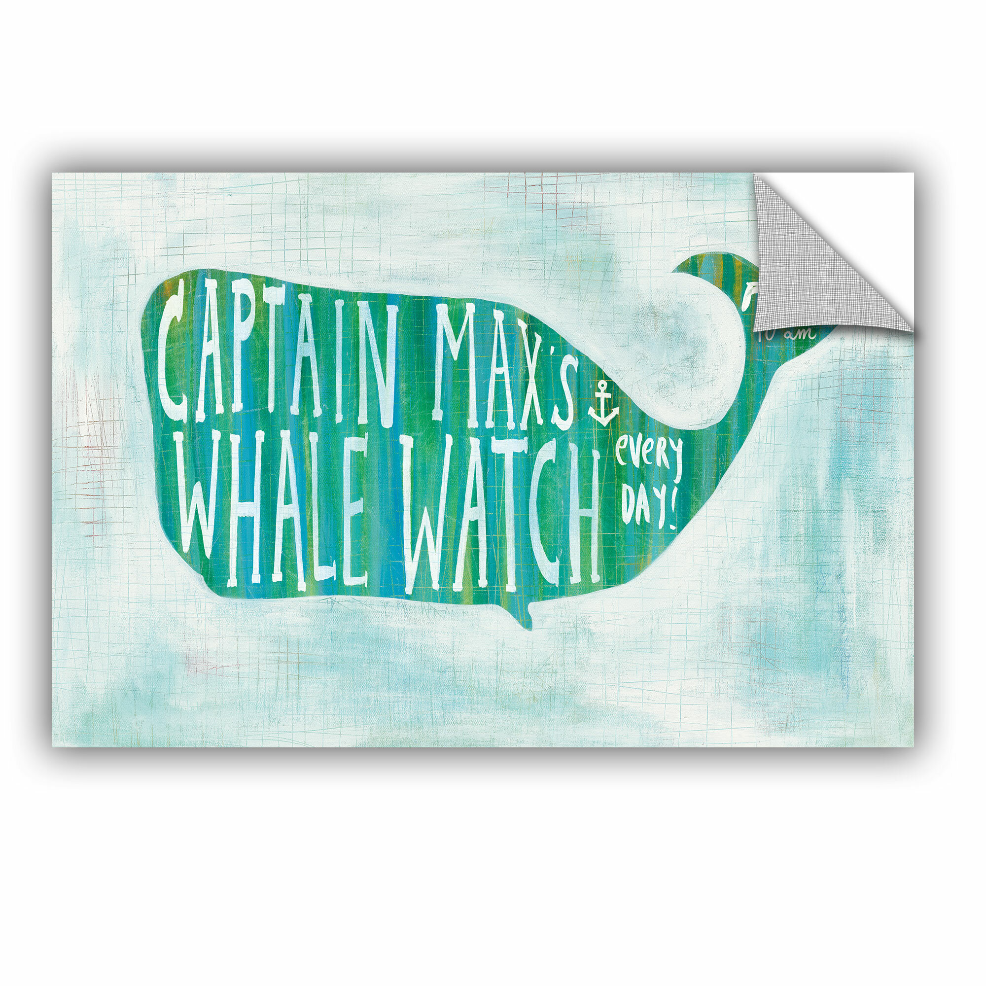 Artwall Melissa Averinos Ahoy I With Words Removable Wall Decal Wayfair