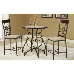 Red Barrel Studio Armisen 3 Piece Counter Height Dining Set