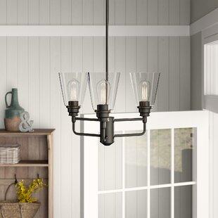Clayton 3-Light Glass Semi Flush Mount by Laurel Foundry Modern Farmhouse