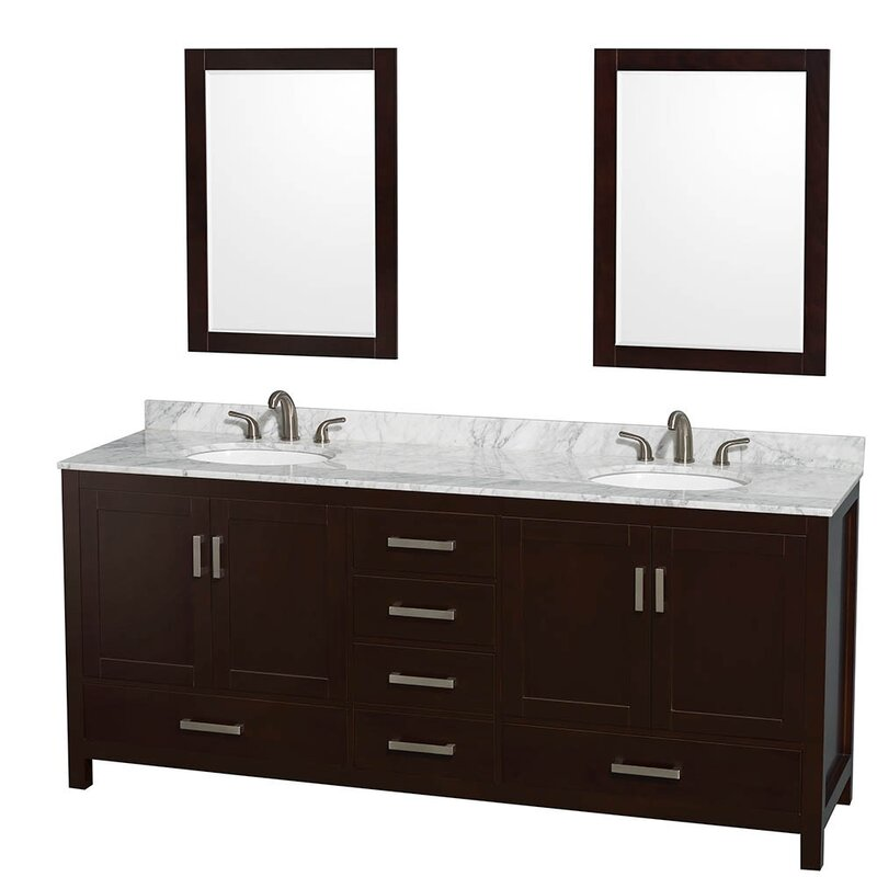"Bathroom Vanity Base wyndham collection sheffield 80"" double bathroom vanity base"
