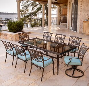 Darby Home Co Barrowman 9 Piece Dining Set with Cushions