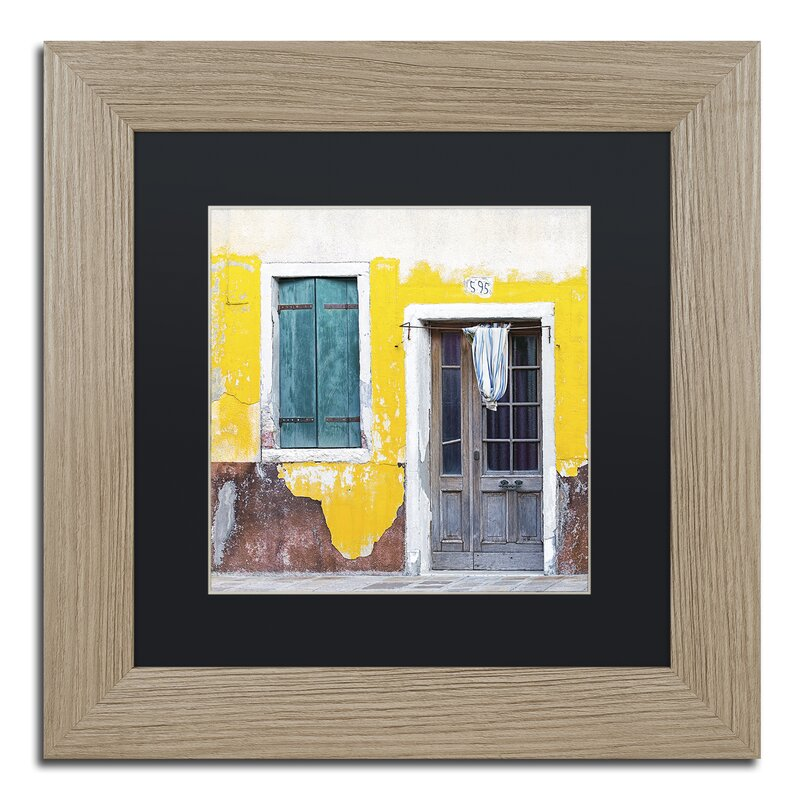 Trademark Art Yellow Chip By Michael Blanchette Framed Photographic Print Wayfair
