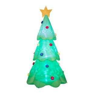 lighted christmas tree decor inflatable