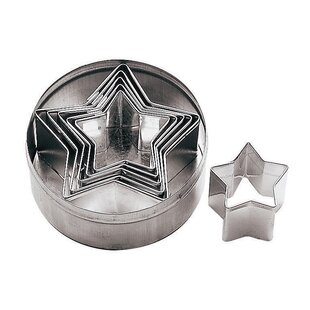 6 Piece Star Dough Cutter Set (Set of 2) By Paderno World Cuisine