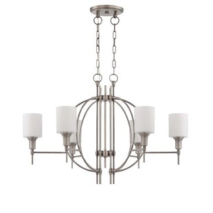 Brocka 6-Light Shaded Chandelier by Latitude Run