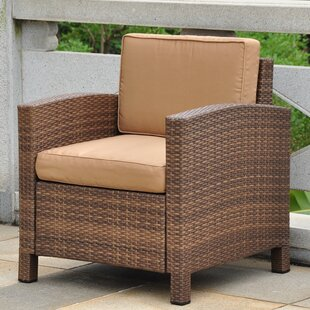 Katzer Aluminum Contemporary Patio Chair with Cushion