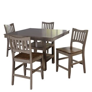 Gabler 5 Piece Pub Table Set August Grove