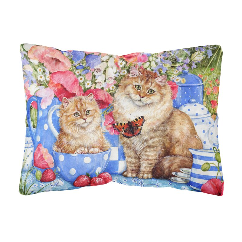 Winston Porter Mcnamara Cats Fabric Indoor Outdoor Throw Pillow Wayfair