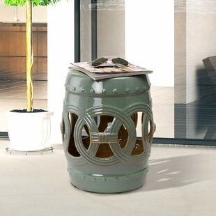 Harwich Ceramic Knotted Rings Garden Stool by Bungalow Rose