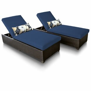 TK Classics Classic Chaise Lounge with Cushion (Set of 2)