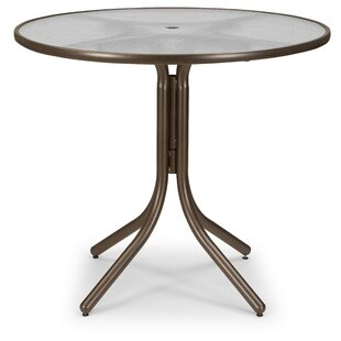 Glass Top Round Chat Table