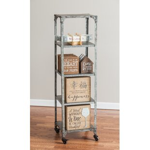 Malarie 4 Shelf Etagere Bookcase