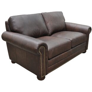 Athens Genuine Leather Chesterfield Loveseat