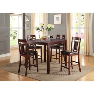 Candice Wood 5 Piece Counter Height Dining Set by Fleur De Lis Living Herry Up