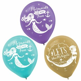 Mermaid Wishes Latex Disposable Balloons (Set of 36)