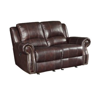 Shop Leather Motion Reclining Loveseat by Wildon Home®