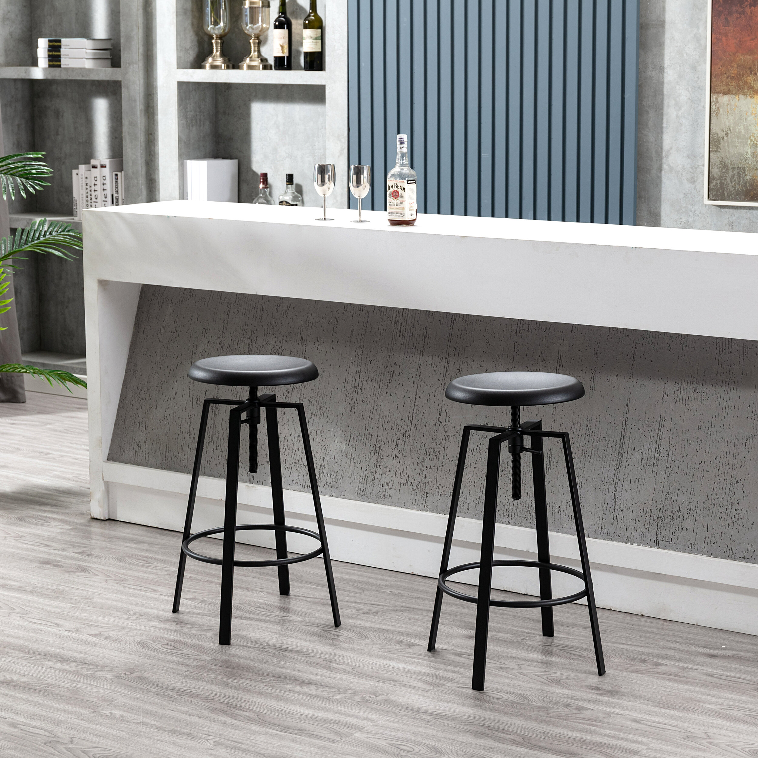 17 Stories Page Swivel Adjustable Height Bar Stool Reviews Wayfair