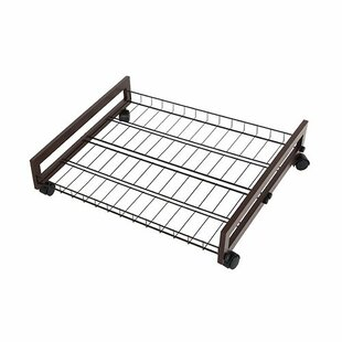 Rebrilliant Rolling Wire Shelf Underbed Shoe Rack