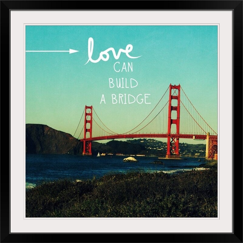 Great Big Canvas Love Can Build By Linda Woods Photographic Print Wayfair