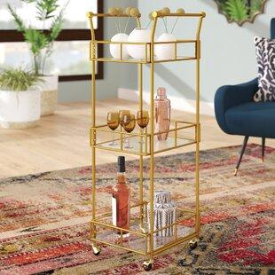 Armando 3 Tier Square Bar Cart by Mistana