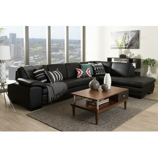 Baxton Studio Leather Sectional by Wholesale Interiors