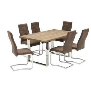 Hilde Dining Set With 6 Chairs By Mercury Row