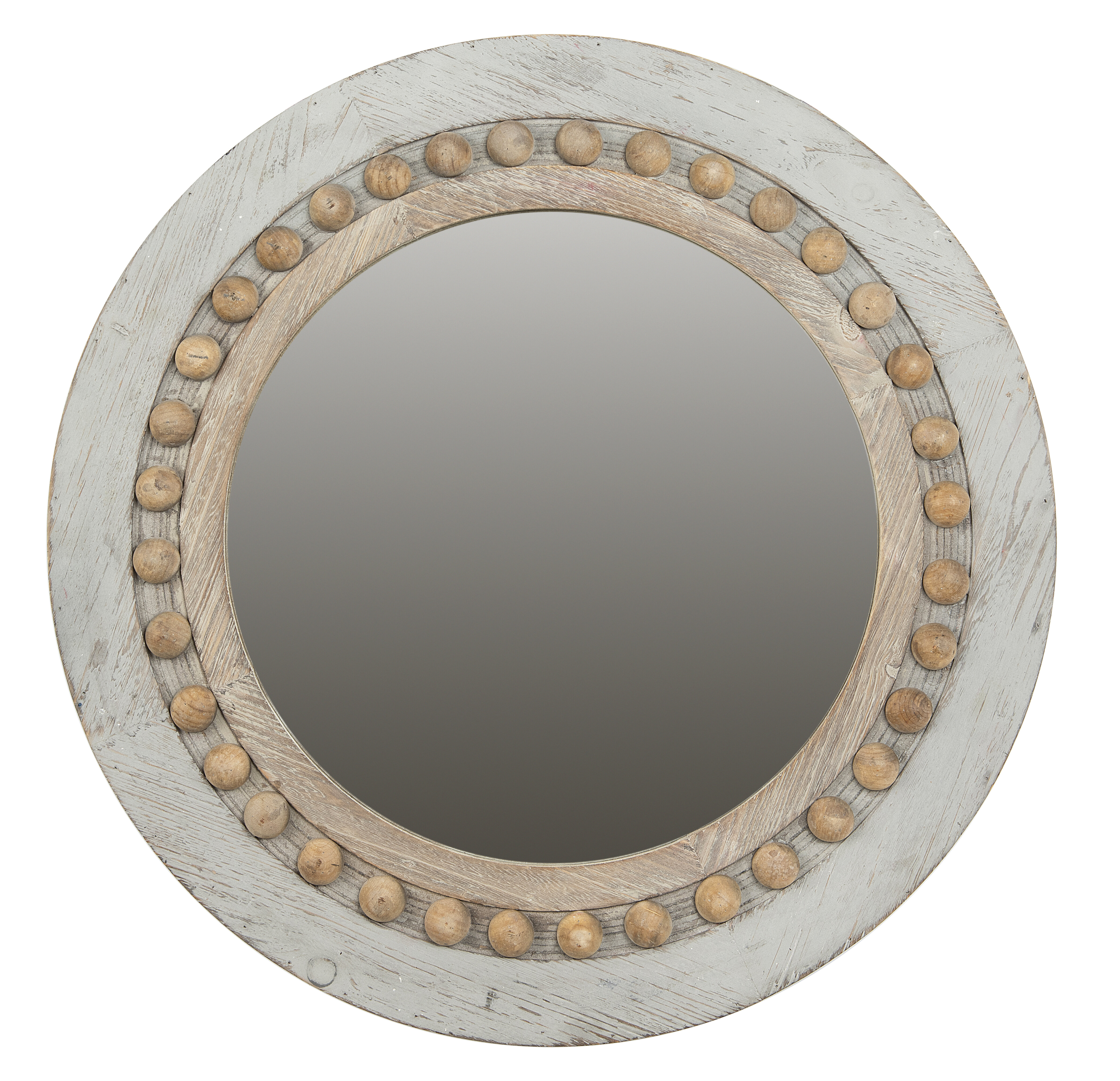 Ophelia Co Bevier Round Decorative Wood Wall Accent Mirror Reviews Wayfair