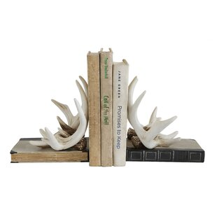 Strikingly Idea Bird Bookends. Resin Antler Bookends  Set of 2 Rustic Wayfair