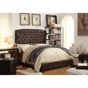 Leatham Queen Tufted Upholstered Platform Bed by Three Posts